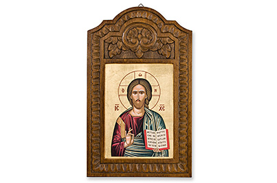 Jesus Christ wooden icon