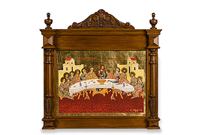 The Last Supper woodcarved icon
