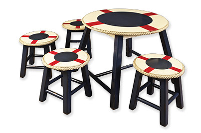 Stool & play table lifesaver for child's room or playroom