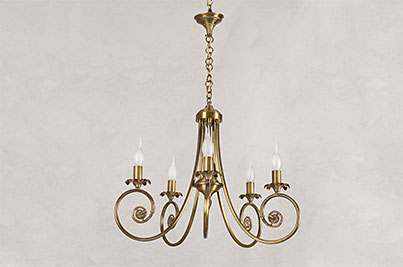 bronze ceiling light candles