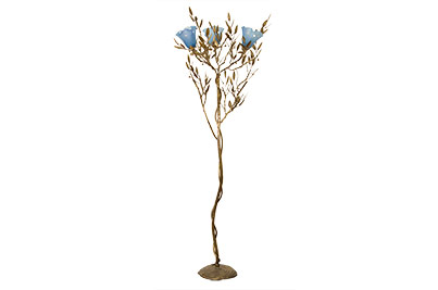 floor lamps olive leaves with blown glass