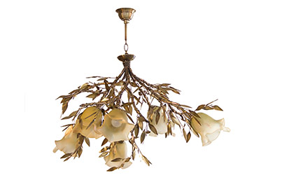 bronze ceiling lights with olive leaves