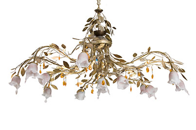 bronze ceiling lights with laurel leaves